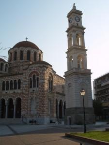 Volos St Nikolai Chunch square