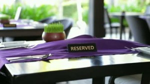 stock-footage-reserved-table-on-the-summer-terrace-restaurant-in-a-tropical-country